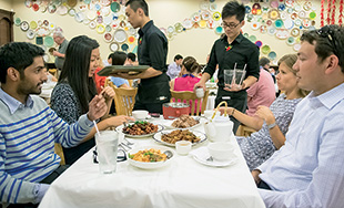 Subrahmanian is always game for good food shared among friends. Houston's popular Chinatown is home to some of his favorite restaurants.