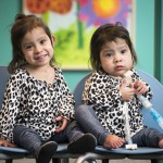 Adeline and Knatalye Mata are all smiles at their checkup, almost a year post-surgery.